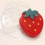 Пластиковая форма для мыла Клубника мультяшная