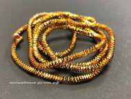 Канитель Трунцал античное золото (antique golden) 3 мм 5 гр