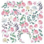 """Лист с картинками для вырезания. Набор """"Mysterious garden"""""""