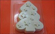Пластиковая форма для мыла 220 - Звёздная ёлка