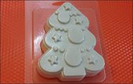 Пластиковая форма для мыла 221 - Ёлка нарядная