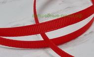 Лента репсовая 0,6см (235 красный), 1 м