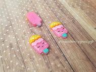 """Кабошон """"Мороженое"""" SF-3821, ярко-розовый 1,2*2,3 см"""