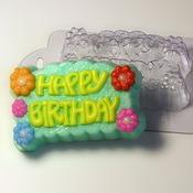 "Пластиковая форма для мыла ""Happy Birthday"""