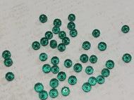 Бусина стеклянная рондель граненая 27 сине-зеленый Ø3
