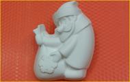 Пластиковая форма для мыла 335 - Дед Мороз с мешком