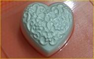 Пластиковая форма для мыла 341 - Сердечко с узором