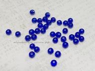 Бусина стеклянная рондель граненая 43 темно-синий Ø2