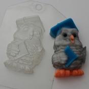 Пластиковая форма для мыла Сова мудрая