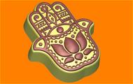Пластиковая форма для мыла 461 - Рука Фатимы