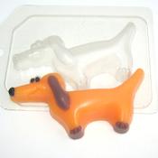 Пластиковая форма для мыла Такса мультяшная
