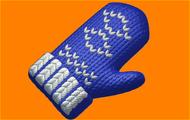 Пластиковая форма для мыла 496 - Варежка