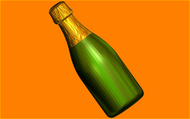 Пластиковая форма для мыла 510 - Шампанское под картинку