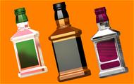 Пластиковая форма для мыла 511 - Бутылка под картинку