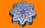 Пластиковая форма для мыла 534 - Снежинка ветвистая