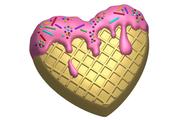 Пластиковая форма для мыла 609 - Вкусное сердце