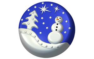 Пластиковая форма для мыла 632 - Зима