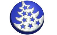 Пластиковая форма для мыла 665 - Ёлка в круге