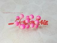 Ягоды на веточке 11 см SF-022, розово-белый 1 шт