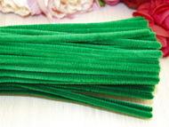 Проволока синельная зеленый 6мм*30 см, упак. 10шт