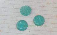 Кабошон Бирюза круглые зеленый 25 мм