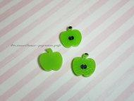 """Кабошон """"Яблочная долька"""" SF-3114, зеленый"""