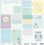 Лист односторонней бумаги 30x30 от Scrapmir Карточки из коллекции Baby Boy SM1700010