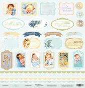 Лист односторонней бумаги 30x30 от Scrapmir Карточки из коллекции Корица SM0900010