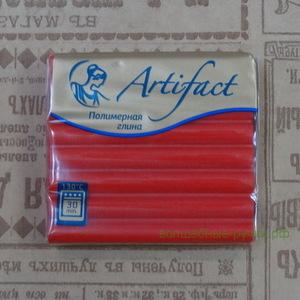 """112 Полимерная глина """"Артефакт"""" брус 56 гр.  классический Алый"""