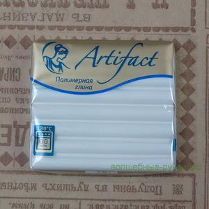 """101 Полимерная глина """"Артефакт"""" классический Белый 56 гр."""