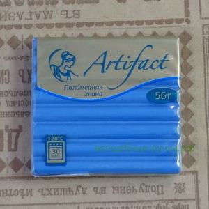 """463 Полимерная глина """"Артефакт"""" брус 56 гр.  классический Джинсовый"""