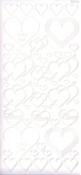 """Контурные наклейки """"Сердечки"""", лист 10x24,5 см, цвет белый"""