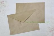 Крафт-конверт 114*162 мм треугольный клапан, клей, 90г/м