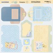 Лист двусторонней бумаги 20х20см Конверты Little Bear от Scrapmir SM2300020