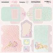 Лист двусторонней бумаги 20х20см Конверты Little Bunny от Scrapmir SM2400020