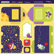 Лист двусторонней бумаги 20х20см Конверты Ticket to the Moon от Scrapmir SM3200020