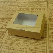 Коробка картонная крафт 8х10х3см