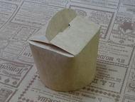 Коробка картонная крафт круглое дно