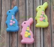 Пластиковая форма для мыла Кролик /Розы