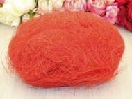 Сизалевое волокно, упак. 100 гр красный светлый