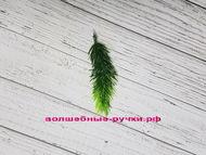 Искусственная зелень еловая лапка, цвет зеленый, длина веточки 11 см