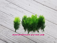 Искусственная зелень еловая лапка, цвет зеленый, длина веточки 8 см 10