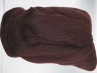 Лента для валяния шоколад шерсть полутонкая 100% 50 гр 063