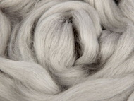 Лента для валяния серый светлый шерсть полутонкая 100% 50 гр 168