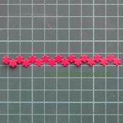Вырубка лента Цветы красный