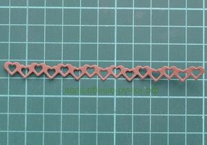 Вырубка лента Сердца шоколадный