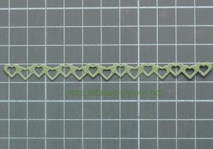 Вырубка лента Сердца зеленый