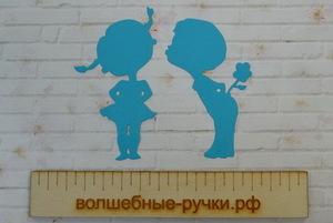 Вырубка Мальчик с девочкой бирюзовый