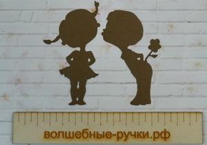Вырубка Мальчик с девочкой шоколадный