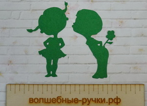 Вырубка Мальчик с девочкой зеленый